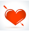 arrow piercing heart st valentines day design vector image
