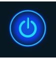 Blue neon button vector image vector image