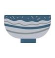 bowl or soup plate ceramic dishware pot vector image vector image