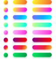 bright colorful icon templates isolated on white vector image vector image