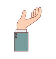 business hand side view gesture hold on in vector image