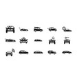 car icon set simple style vector image