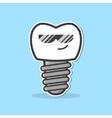 Cartoon dental implant vector image vector image