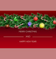 christmas banners set with fir branches decorated vector image vector image