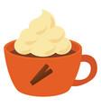 cinnamon tea on white background vector image vector image