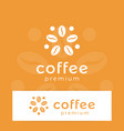 coffee logo modern concept coffee bean icon vector image vector image