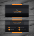 dark modern business card vector image vector image