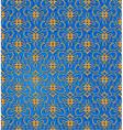 decorative floral wallpaper background vector image vector image