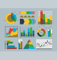 design diagram chart elements vector image vector image