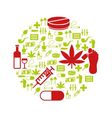 drug icons in circle vector image vector image