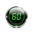 Electronic timer 60 seconds vector image