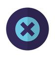 error button icon vector image