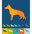 Flat design german shepherd vector image