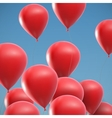 flying realistic glossy balloons vector image vector image