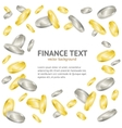 Gold and Silver Coin Money Banner vector image