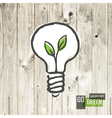 green eco energy concept lightbulb vector image