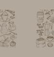hand drawn retro with coffee coffee vector image