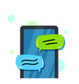 hand holding a call concept business conversation vector image vector image