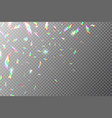 holographic backdrop flying rainbow foil shining vector image vector image
