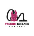 home cleanliness vacuum logo vector image