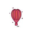 hot air balloon icon design vector image vector image