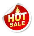 Hot sale sticker badge with flame vector image