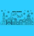 india mumbai winter holidays skyline merry vector image vector image