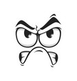 irritated grumpy emoticon social network chat sign vector image