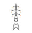 isolated electrical tower vector image