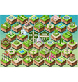 Isometric Accessories for Green City Park Set vector image vector image