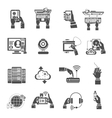 It Devices Icons Black vector image