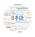 Japanese language foreign vector image vector image