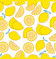 lemon seamless pattern tropical citrus exotic vector image
