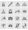 line camping icon set vector image vector image