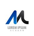 logo concept design initial letter m symbol vector image