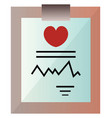 medical record on a clipboard on a white vector image vector image