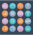 money colorful icons vector image vector image