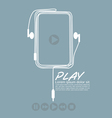 Music Player EPS10 vector image