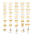 nautical rope knots icon set vector image