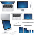 pc mouse keyboard laptop notebook smartphone vector image