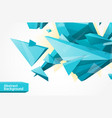 polygonal geometrcial background vector image vector image