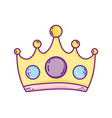 queen crown cartoon vector image