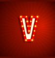 retro style letter v vector image vector image