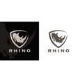 rhino shield logo icon vector image