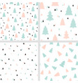 scandinavian christmas seamless patterns vector image vector image