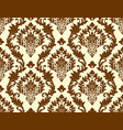 seamless damask pattern as a background vector image
