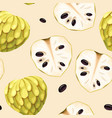 seamless pattern with cherimoya vector image vector image