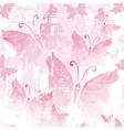 Seamless pink grunge pattern vector image