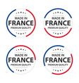 set four french icons made in france premium vector image vector image