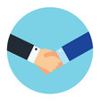 shaking hands business symbol vector image vector image